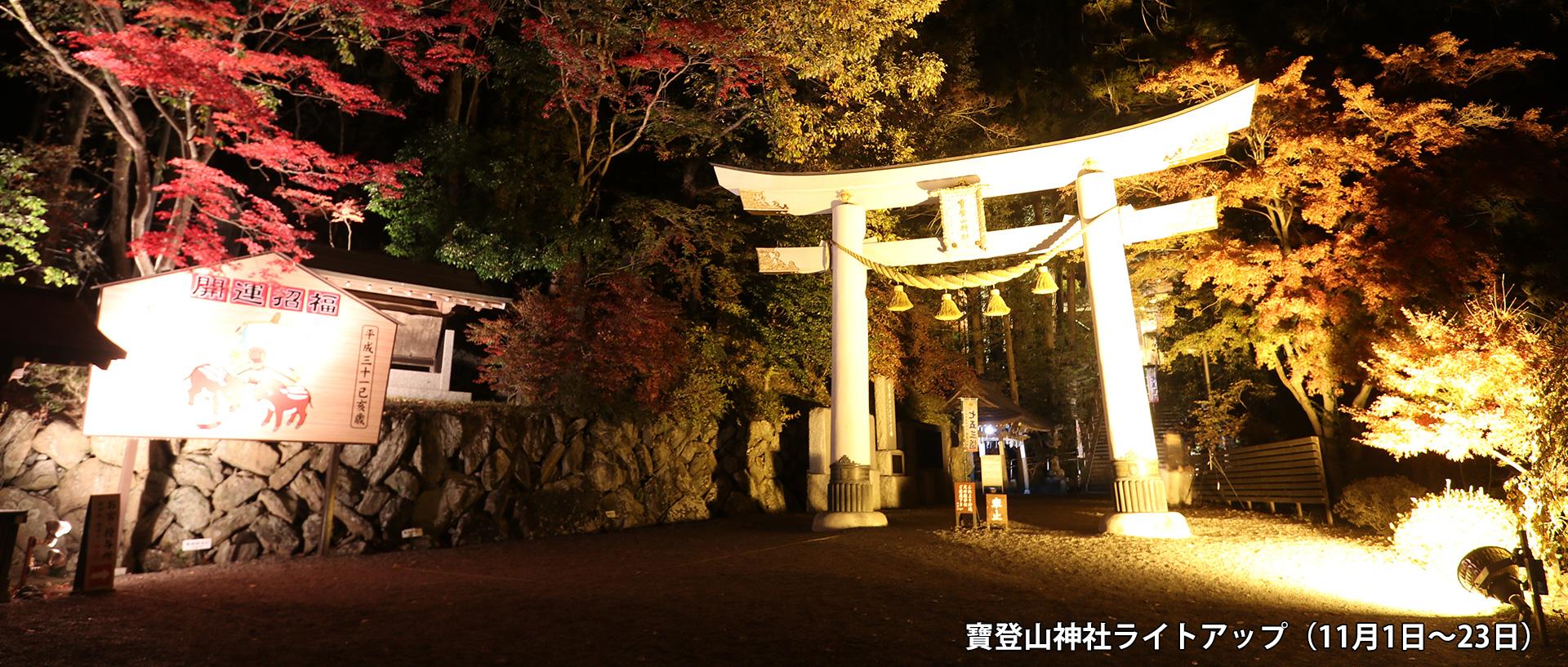 寶登山神社ライトアップ(11月1日~23日)